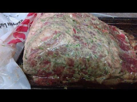 Beef Prime Rib, Dijon Mustard, Rosemary Rub