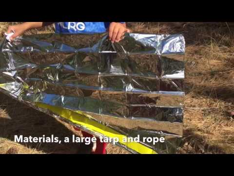 How to build a shelter in the woods with only a tarp and a rope
