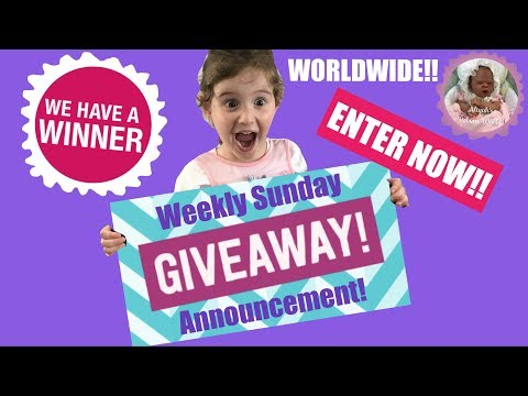 *ENTRIES NOW CLOSED* WEEKLY SUNDAY GIVEAWAY!! PLUS LAST WEEKS WINNER ANNOUNCED