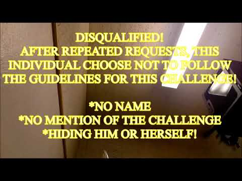 challenger jane or john doe 1 DISQUALIFIED mission impossible challenge