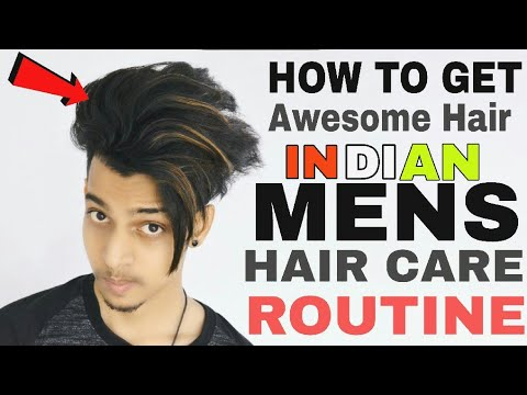 Indian Mens Hair Care Routine In Hindi ☆ How To Get Awesome Hair ☆Sayan Dutta