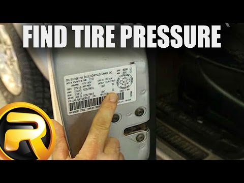 How to Find your CORRECT Tire Pressure