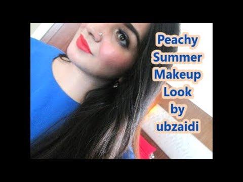 Summer Makeup Look, Peachy Light coverage No CONTOUR Makeup Tutorial