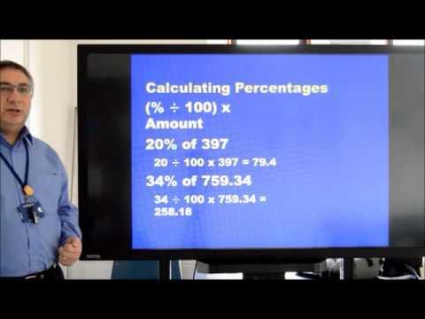 Functional Skills Maths percentages recap