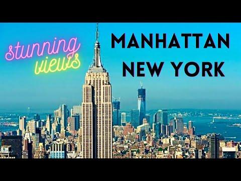 Empire State Building New York - Stunning Manhattan Skyline View *HD*