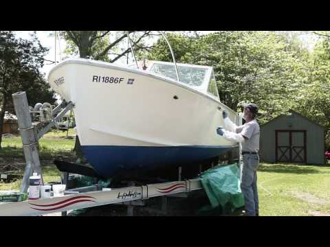 How to remove stains from your boat with TotalBoat White Knight Fiberglass Stain Remover