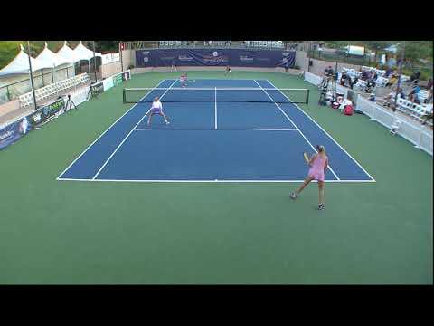Henderson Tennis Open sick point!! Genie Bouchard/Fanny Stollar vs Zacarias/Chieh-Yu