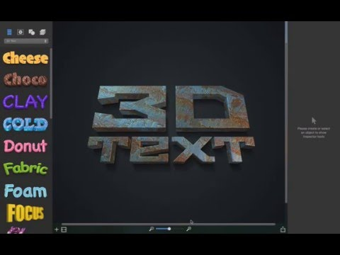 How to create 3D Text in Art Text 3.0 (Mac OS X ) Tutorial