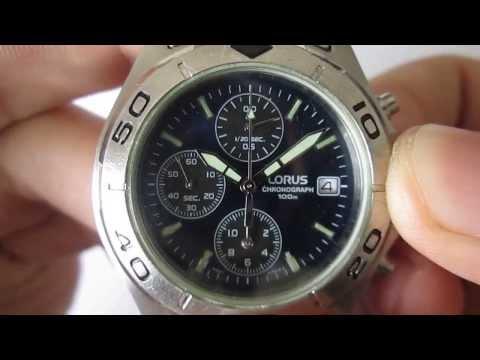 Stopwatch Hand Position Adjustment:LORUS CAL. YM92 1/20 SECOND CHRONOGRAPH