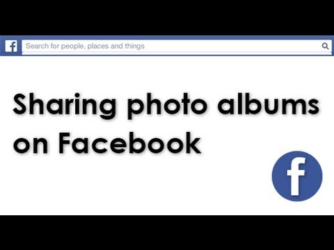 How to use Facebook shared photo albums