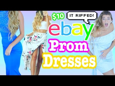 TRYING ON $5 EBAY PROM DRESSES! Cheap Dresses I Bought Online *DISASTER*