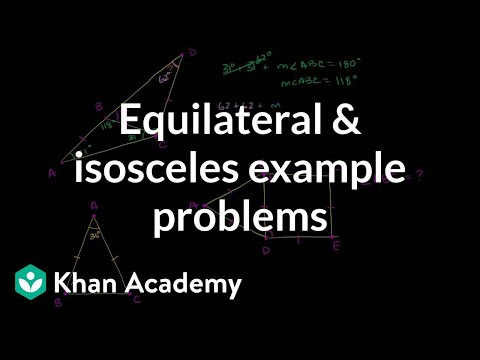 Equilateral and isosceles example problems | Congruence | Geometry | Khan Academy
