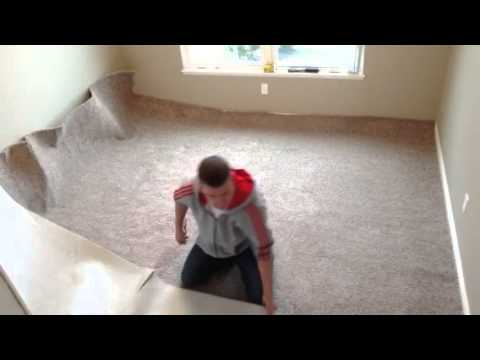 Video 3 how to unroll carpet for installation