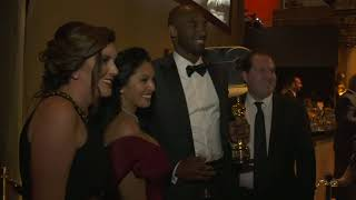 Kobe Bryant with Oscar at Governor