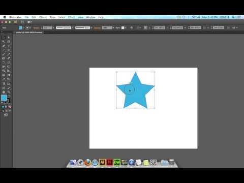 (Illustrator CS6) Drawing a star