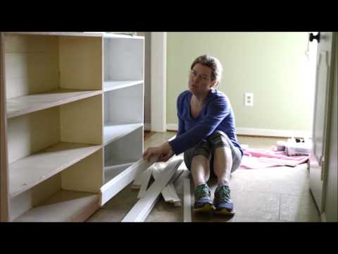 DIY on a Dime - Thrift Store Bookcase Built-Ins #2: Trim