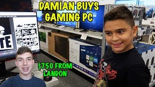Download DAMIAN BUYS a GAMING PC | LANDON GIVES HIM $750 | D&D SQUAD Video