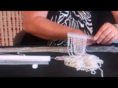 ShopWildThings.com - Adding Density and Strands to Beaded Curtains