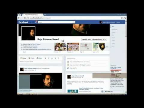 Disable FB Time line