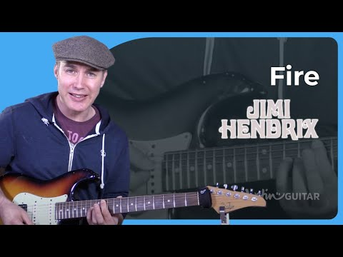 How to play Fire by Jimi Hendrix - Guitar Lesson Tutorial Classic Rock Easy