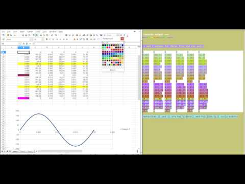 R math generated sinusoid using sin function in excel