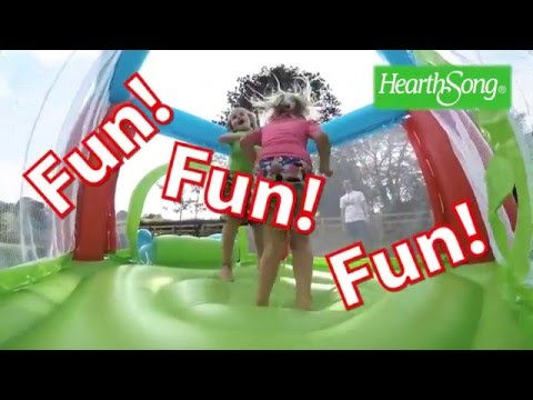 Self-Inflating Bouncy Castle, Slide, and Pool SKU# 730279 - HearthSong
