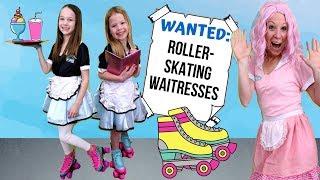 Pretend Toy Cafe Hires Roller Skating Waitresses