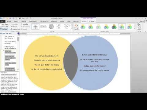 Smart Art Venn Diagram