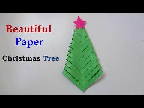 Christmas Tree - How to make a paper Christmas tree star
