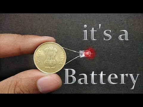 How to make Battery using Coin || home made battery ||