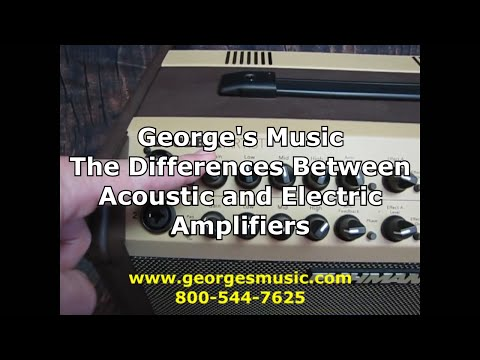 The Difference Between Acoustic and Electric Guitar Amplifiers with George's Music