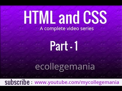 Learn html and css tutorial | How to make website from scratch _Part   1