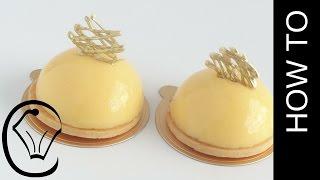 Lemon Curd Tart Dome Entermet by Cupcake Savvy