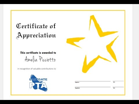 How to quickly make certificate of Appreciation using MS Publisher and Templates