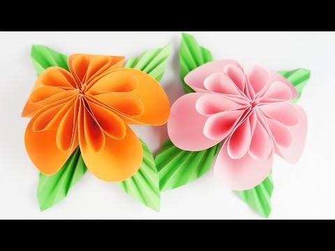 Beautiful Paper Fold Flower TCRAFT