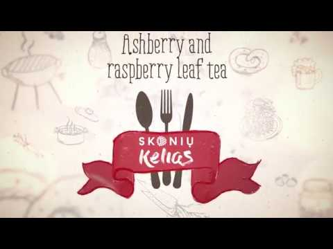 How to make Ashberry and raspberry leaf tea. Localtaste.lt