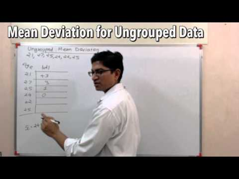 Statistics for GS- Ungrouped Data-How to find Mean Deviation