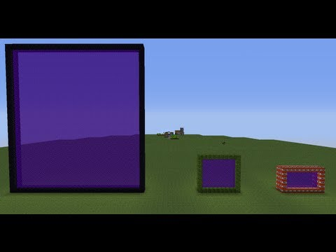Minecraft: How to make modified nether portals in vanilla minecraft using MCEdit