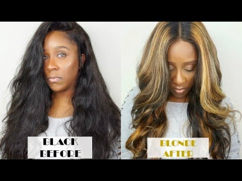 HOW TO BLACK HAIR TO BLONDE HAIR HIGHLIGHTS TUTORIAL | WEST KISS HAIR