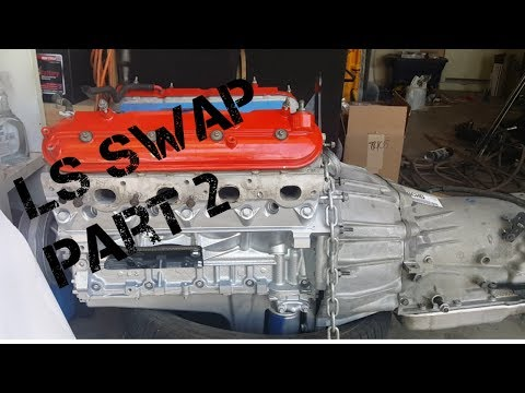 LS Swap Part 2 New Rear Main Seal, Trans Bolted Up