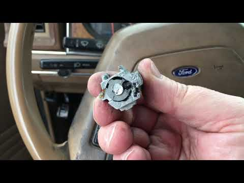 1988 Ford Ranger Ignition Cylinder Won't Turn To On And Is Stuck!  Fixed And Running!!!