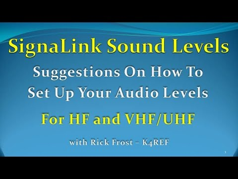 Setting Up SignaLink USB Sound Levels