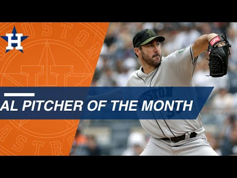 Justin Verlander wins AL pitcher of the Month