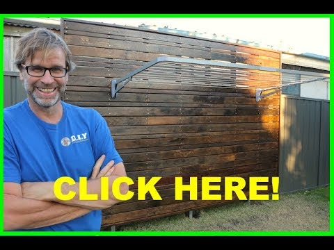How to Build a Recycled Wooden Screen!