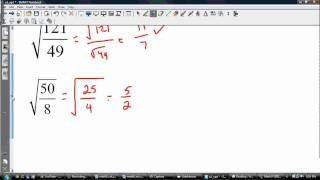 Square Roots of Fractions/Rational Numbers