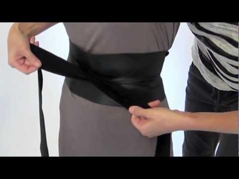 How to tie a Ms. Wood Obi Belt