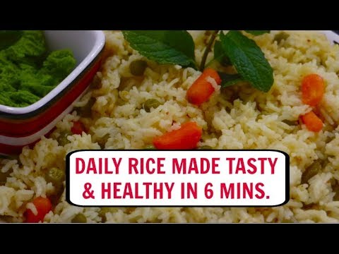 Daily Rice made Tasty & Healthy in 6 Mins | Quickest Pulav Ever in Pressure Cooker - CurryfortheSoul
