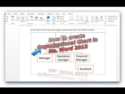 Create Organizational Chart in Office Word 2013-Very Simple Tip