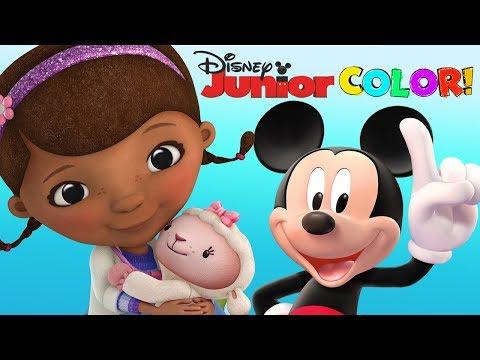 Mickey Mouse Clubhouse Doc McStuffins The Lion Guard Coloring Colors Disney Junior App For Kids
