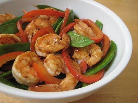 Shrimp, Bell Pepper & Snow Pea Stir-fry